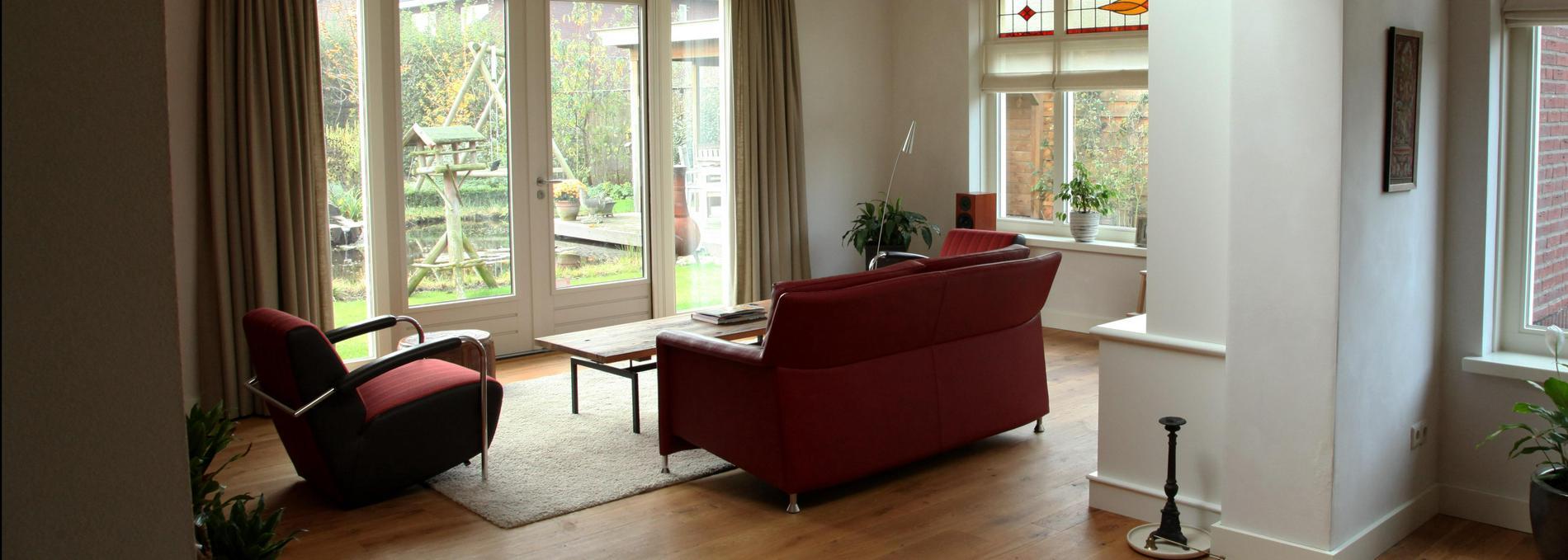 Kathshuis - Onderzoek planvorming uitbouw woonkamer.